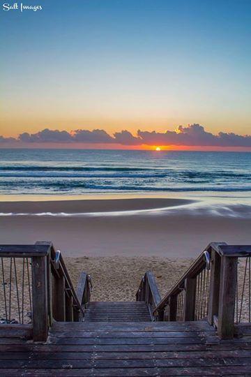 #Sunrise at Coolum Beach in Sunshine Coast, #Australia༺ ♠ ༻*ŦƶȠ*༺ ♠ ༻