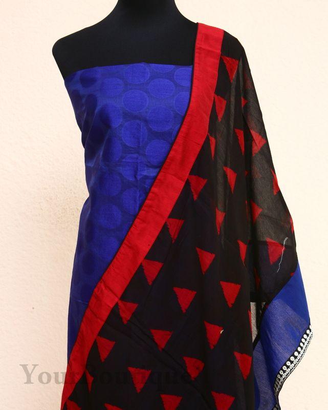 TM040-5 silk top, bottom and dupatta.
