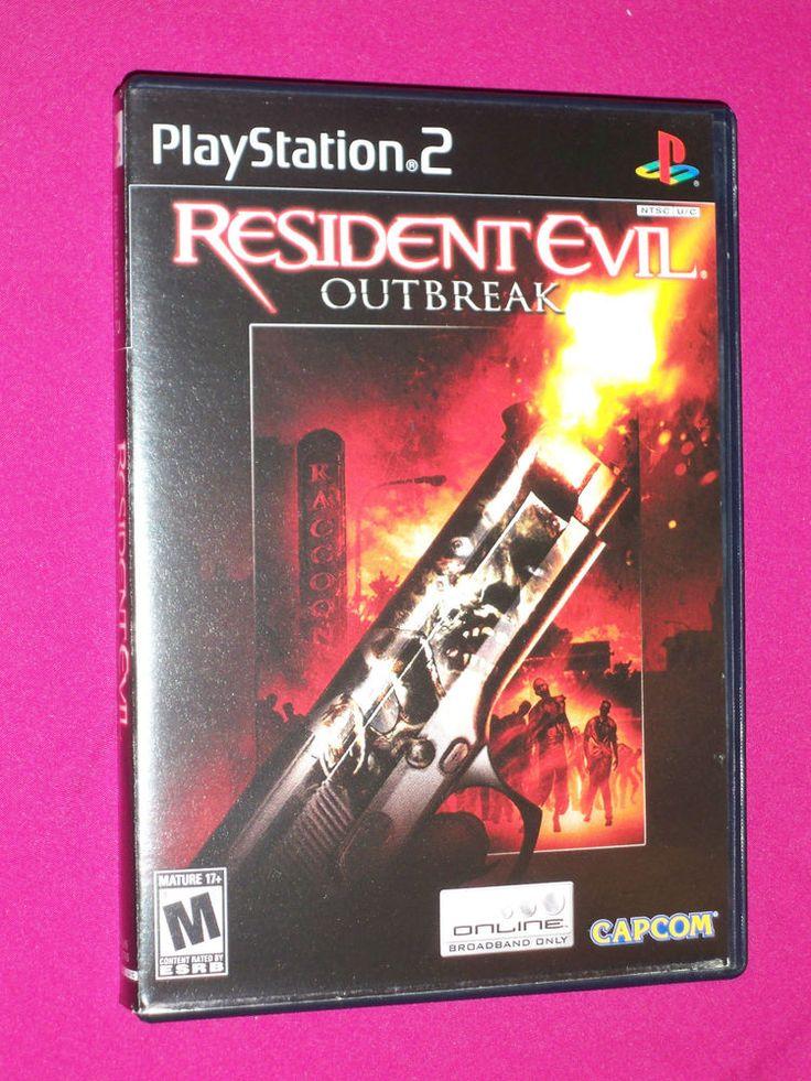 Resident Evil Outbreak PS2 Zombie Game, Sony PlayStation 2, 2004 Capcom Frn Book | eBay