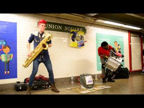 Too Many Zooz in Union Square last december to the top, f.w.s., maritza filmed during the making of my Santacon 2013 video https://www.youtube.com/watch?v=07...