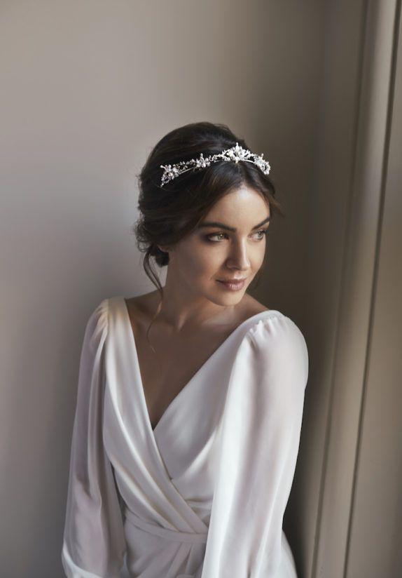FLEUR delicate silver bridal crown 4