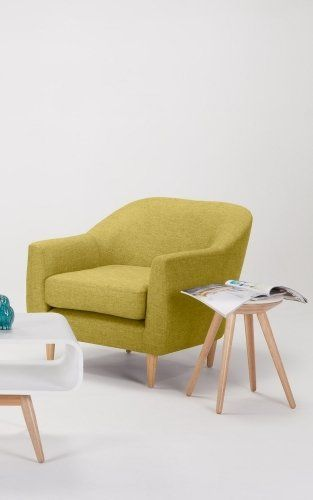 Tubby armchair citrus green armchairs the o 39 jays and for Armchairs for small spaces