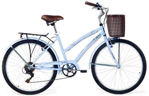Bicicleta De Paseo Dama Con Cambios Y Canasto Olmo Amelie - en MercadoLibre