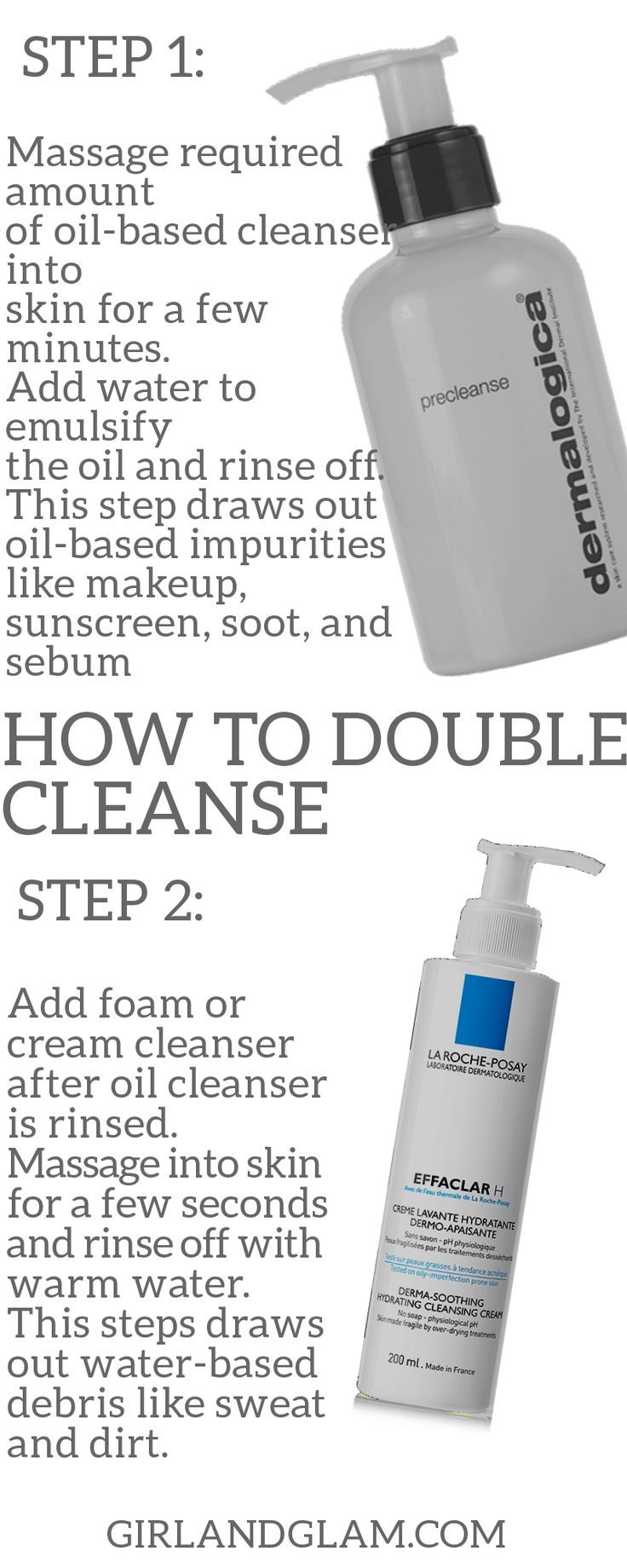 How To Double Cleanse In 2020 Oil Based Cleanser Double Cleansing Skin Cleanser Products
