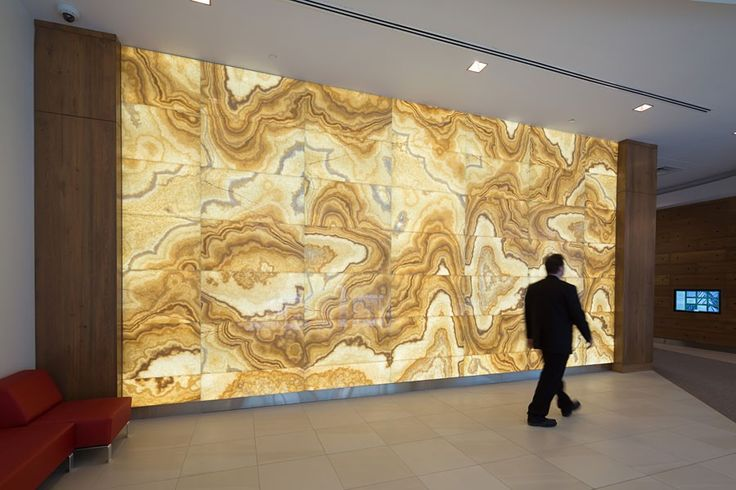 Backlit Onyx Panels Illuminated Translucent Surfaces