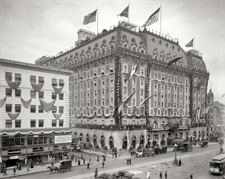 "New York, 1909. ""Hotel Astor, Times Square"". Via Shorpy.: Historical Photos, Time Squares, Vintage Photos, York Cities, Times Square, Hotels Facades, Hotels Astor, New York, Nyc History"