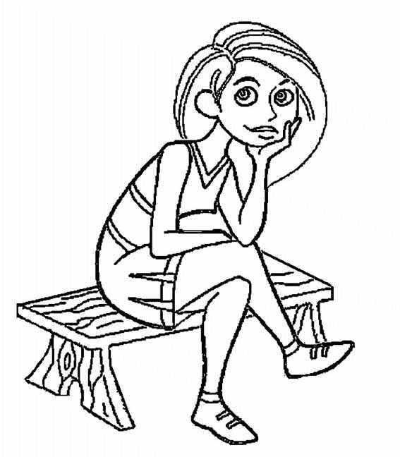 Dibujo de Kim Possible para imprimir y colorear