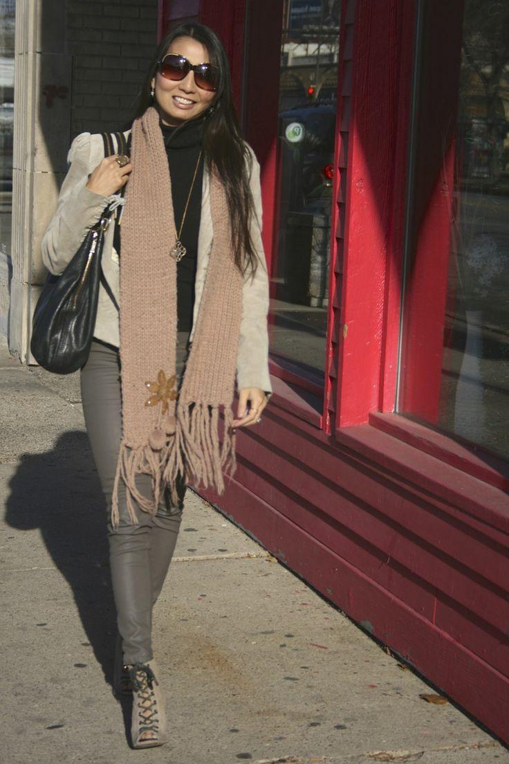 From the PS BANANAS #Minneapolis #fashionblog: #Zara coated jeans, #Leifsdottir Suede jacket, #StellaandDot necklace