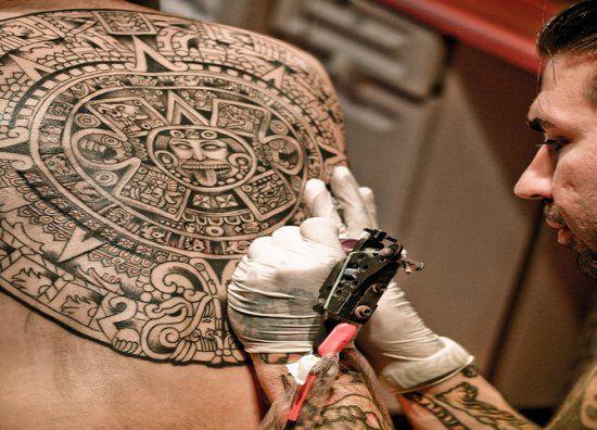 Примеры татуировок ацтеков