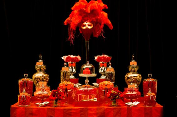 The red candy buffet by www.candybuffet.com.au. #candybuffet