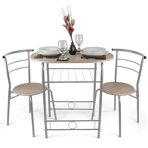 Tesco direct: Christow 3 Piece Breakfast Dining Set Silver