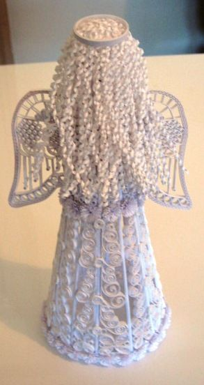 3D Quilling angel | Revealed: how Christine Donehue made this angel ... 30 April 2013.