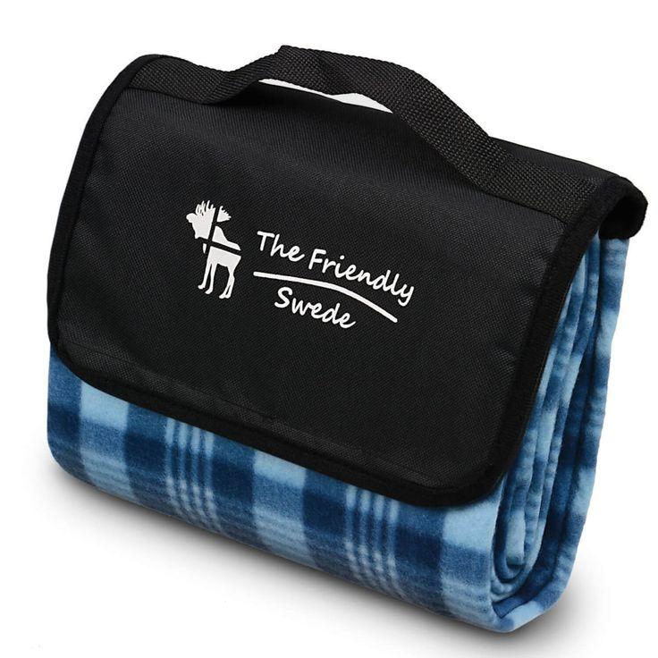 Coperta da picnic in pile richiudibile e trasportabile come una borsetta. Un'idea regalo e un oggetto simpatico e utile in svariate occasioni..
