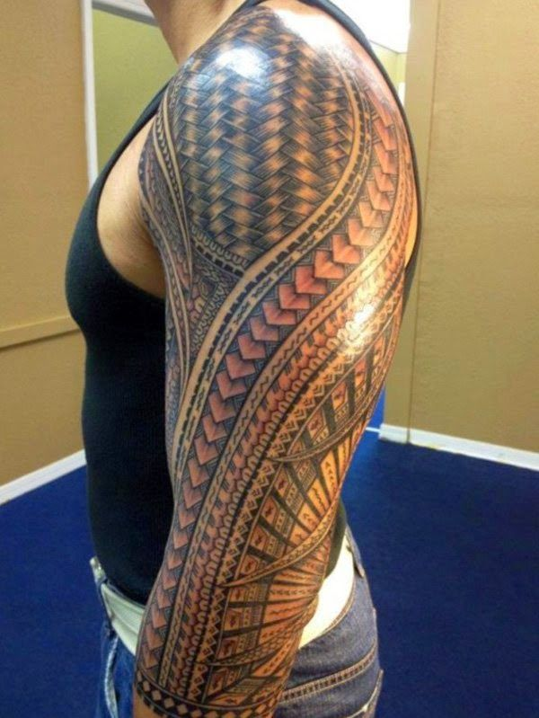 Filipino tribal tattoo done Jonathan Cena tribal-tattoo-sleeve