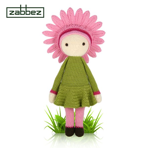 Amigurumi Flower Doll : Gerbera Gemma flower doll - amigurumi - crochet pattern by ...