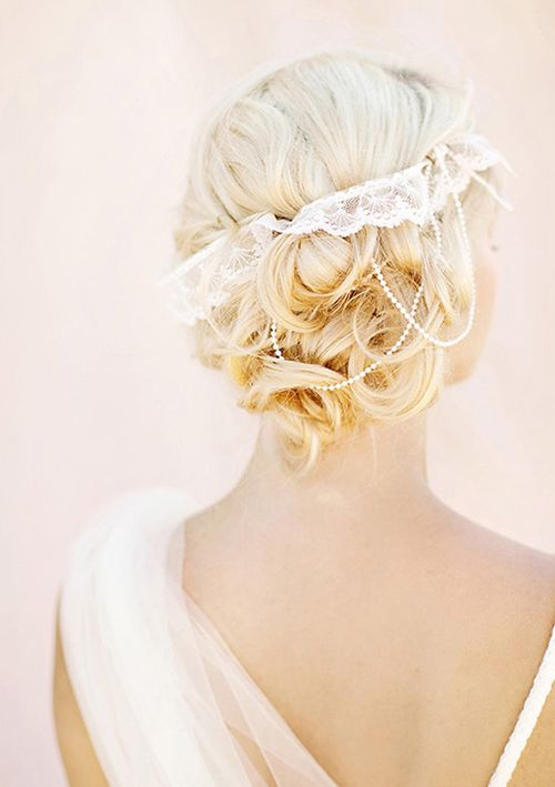 100 Layer Cake: Bridal Hairstyle Ideas...Love this!