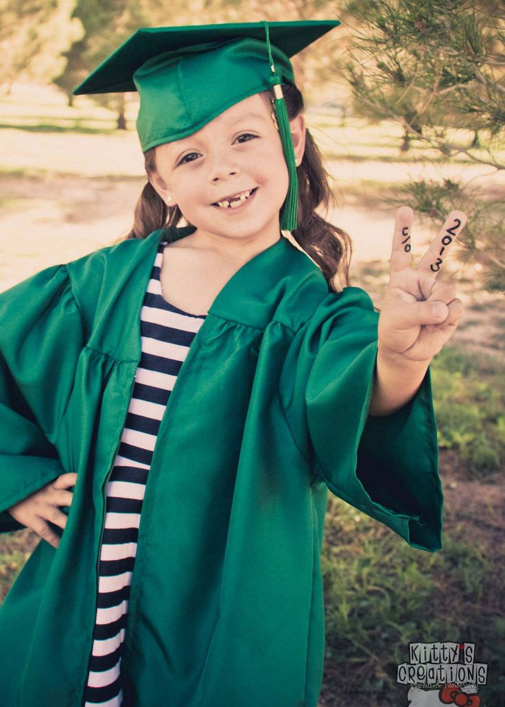 Kindergarten Graduation Photo Idea. Children's Photography.
