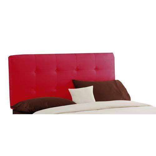 Skyline Furniture, Mfg. Tufted California King Headboard   Premier Red