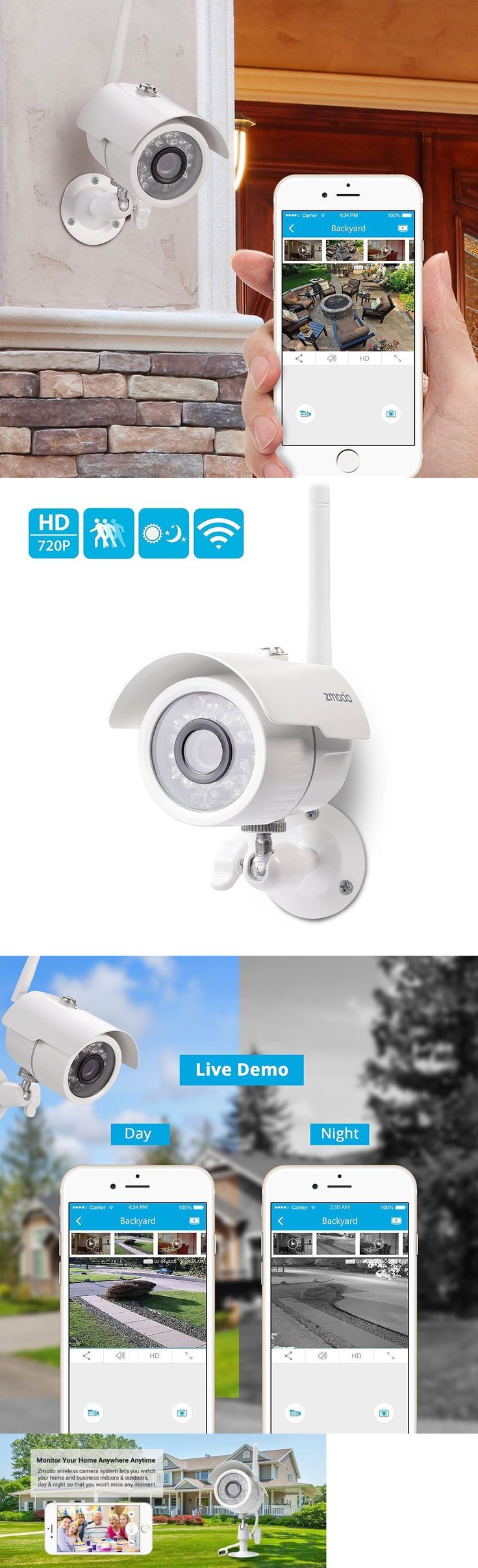 Surveillance Security Systems: Home Wireless Security Video Camera System Surveillance 720 Hd Night Vision App -> BUY IT NOW ONLY: $46.75 on eBay!