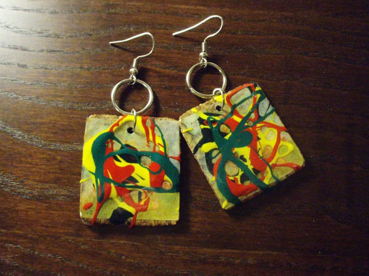 the colored ArtePovera earrings