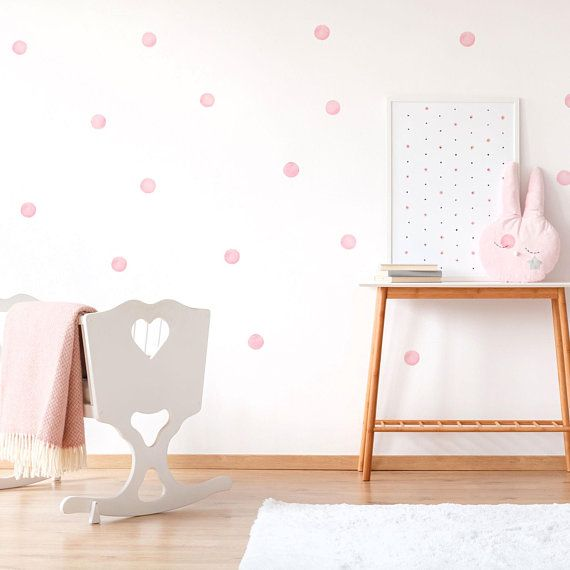 Mixed Blue Watercolor Polka Dot Wall Decals 3 5cm Eco Friendly