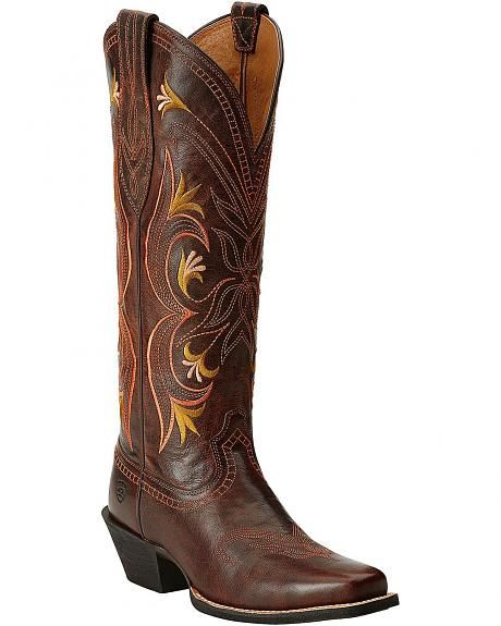 Ariat Lantana Tall Cowgirl Boots - Square Toe; these are so pretty - love the dark brown too.
