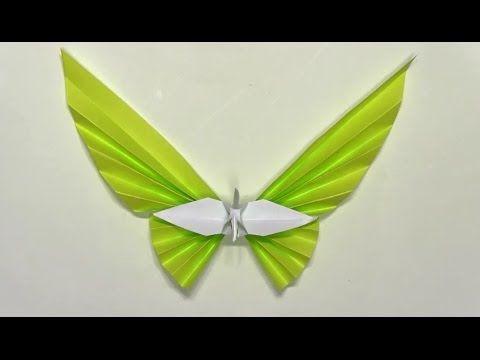 折り紙ランド Vol,327 扇鶴の折り方 Ver.1 Origami: How to fold a crane fan Ver:1 - YouTube