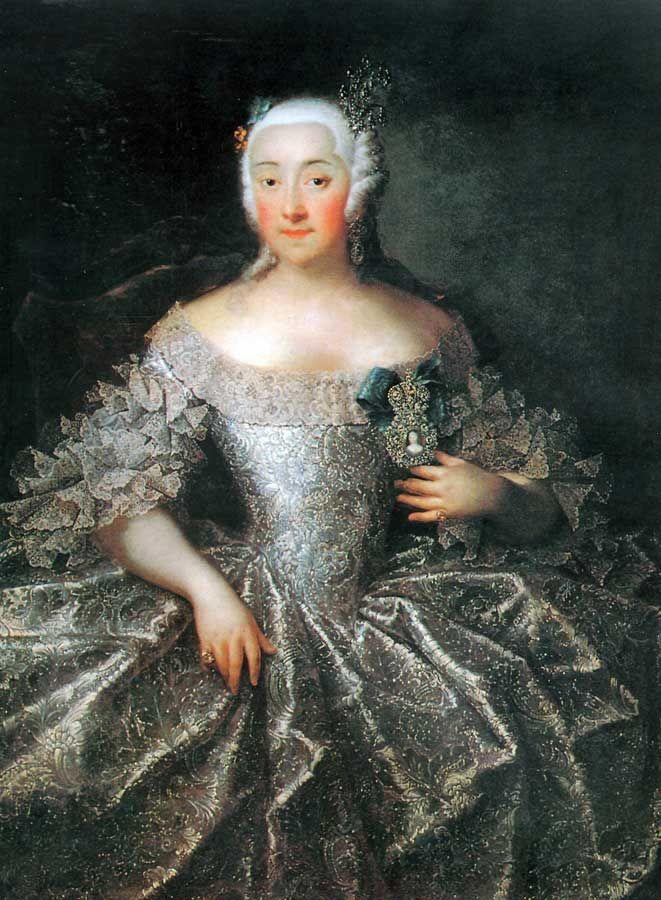 Portrait of countess V.A. Sheremeteva :: Grooth Georg Christoph 1746