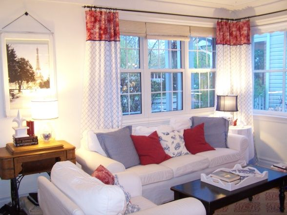 Idea For Summer Living Room Drapes