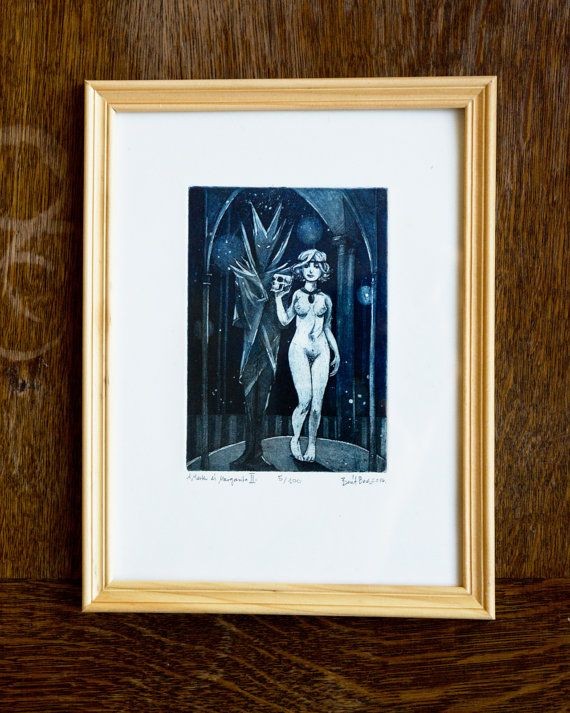 Master and Margarita II - Illustration | original etching print