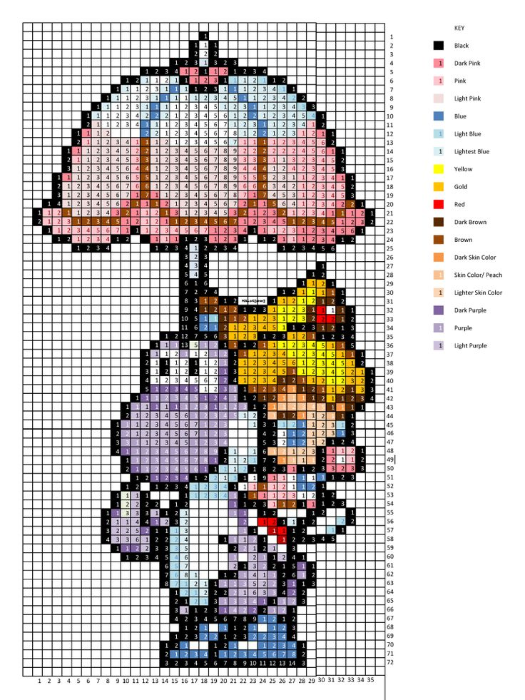 Baby Peach and Yoshi cross stitch pattern