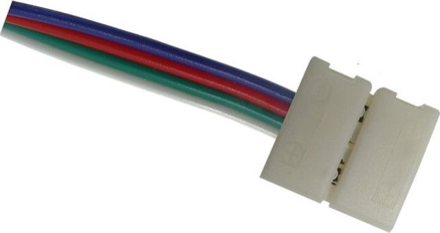 Cu aceasta MUFA ALIMENTARE BANDA RGB SI CONTROLER 10MM se asigura conexiunea intre banda LED RGB 12V cu latime de 10 mm si controller-ul RGB cu iesire la 12V. A se utiliza doar in aplicatiile de interior. Pret per bucata.