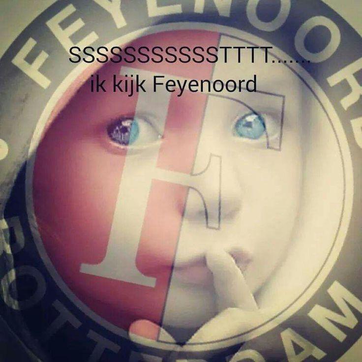 Stttt.... Ik kijk Feyenoord
