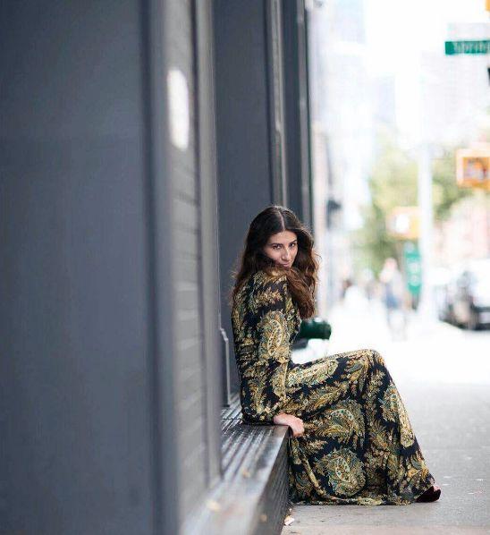 Alessandra Airò dressed in PINKO at New York Fashion Week