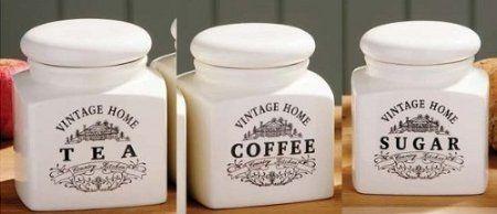 Cream Ceramic Vintage Tea Coffee Sugar Jars New Kitchen Storage Canisters Pots by PRIME FURNISHING, http://www.amazon.co.uk/dp/B00B8TTTMM/ref=cm_sw_r_pi_dp_g8cxsb0PQ326R