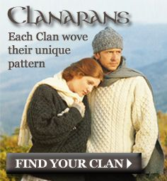 Exclusive to the Aran Sweater Market - find your family's own unique Aran pattern and wear your heritage with pride!