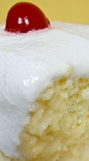 Tres Leches - Three-Milk Cake — SweetBites.                            This is a New Mexico favorite!   And one of my favorite cakes ever!