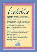 Origen y significado de Isabella
