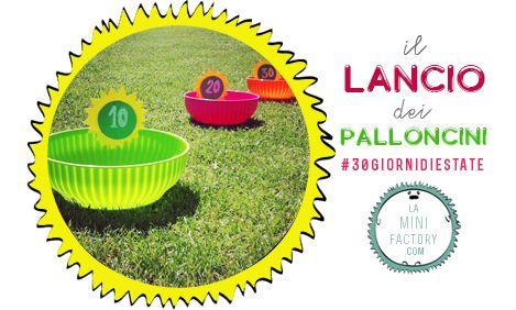 Water Ballon Toss - Il lanco dei palloncini ad acqua! Summer activity for kids - Gross Motor Activity - Montessori inspiration  #30giornidiestate