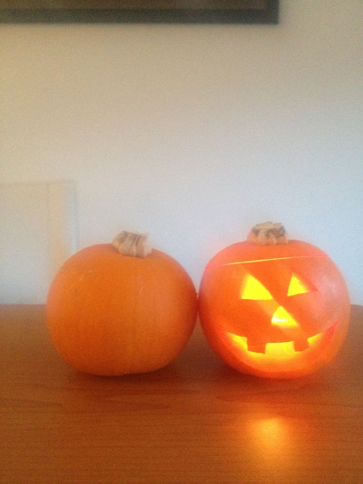 My first attempt at a Halloween pumpkin!!  I'm impressed!!