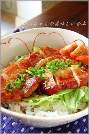 さっぱり豚のお酢照り焼きサラダ丼|レシピブログ