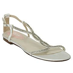 Heaven flat crystal Sandal by Paradox London.  The Pink Collection from Paradox London combines comfort and style in a variety of bridal styles that are affordable, chic and fun to wear.