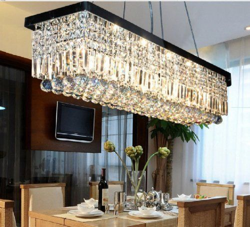Modern Contemporary Crystal Pendant Light Ceiling Lamp Chandelier Lighting