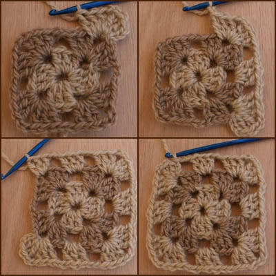 basic granny square crochet