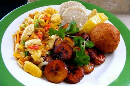 Big up to d ackee n saltfish,jonny cake,yam,dumpling and fry plaintain