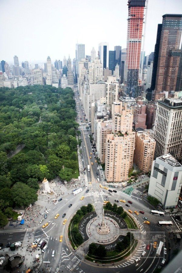 New York City's Columbus Circle and Central Park....and 5th Avenue. I want to go to New York!!