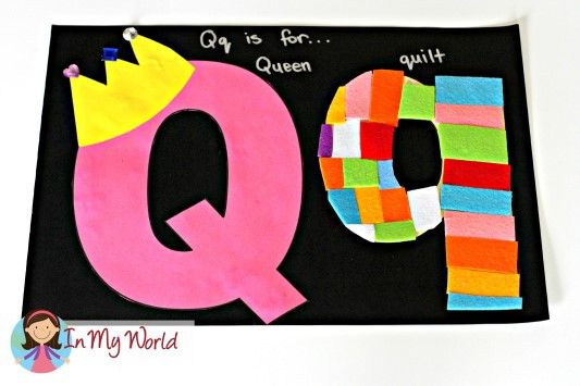 Preschool Letter Q FREE letter templates for crafts