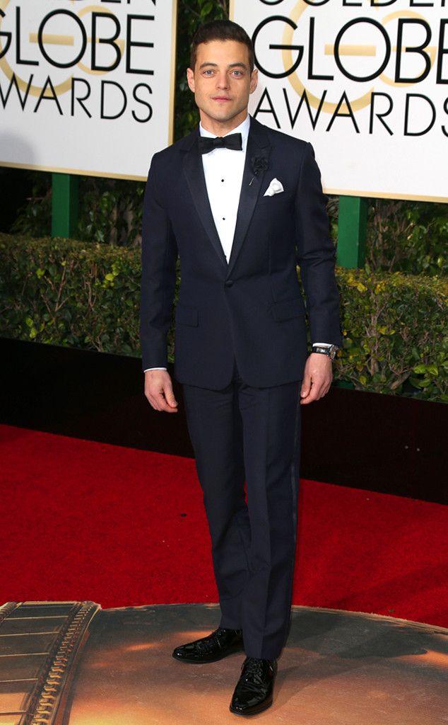 Rami Malek from 2017 Golden Globes Red Carpet Arrivals