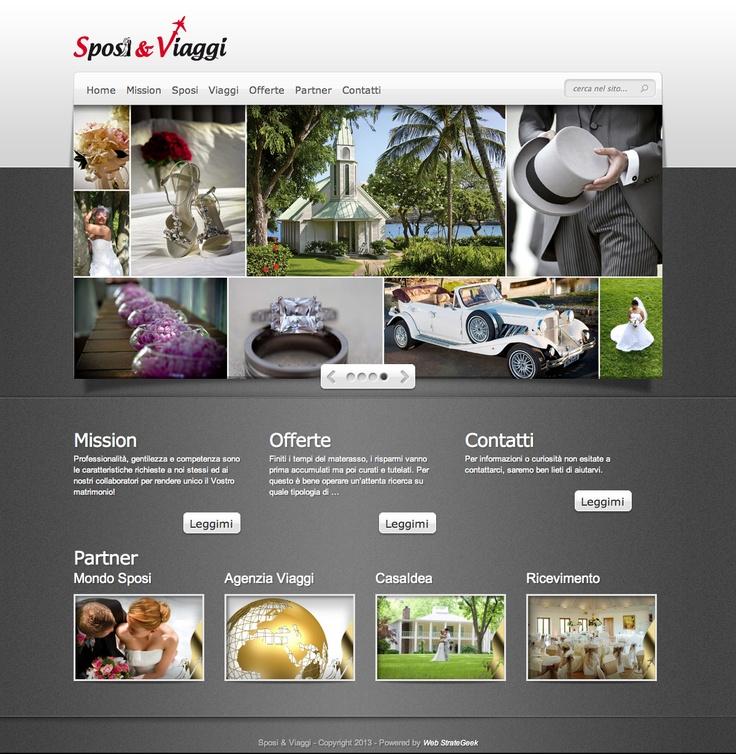 Siamo lieti di presentare il nuovo portale dedicato agli Sposi!    è finalmente ON LINE    http://www.sposieviaggi.it/    Al suo interno troverete varie informazioni per i futuri sposi, consigli, mete per i viaggi di nozze, servizi e tutto ciò che fa parte del loro mondo!