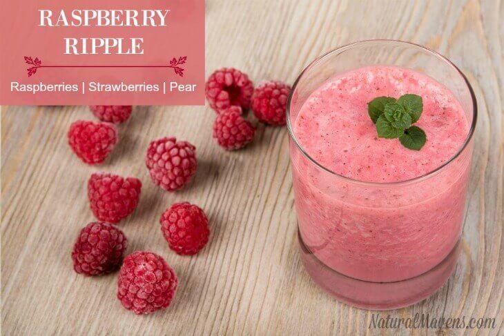 Raspberry Ripple Juice - Raspberries, strawberries, pear. And seven more juice recipes.